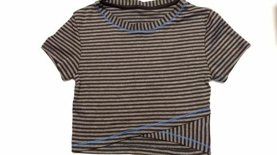 Blusa Cropped Listrada Tam 12! Nova Ref2089