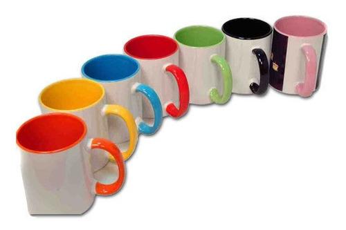 Jarros Tazas Para Sublimar De Colores Bicolor