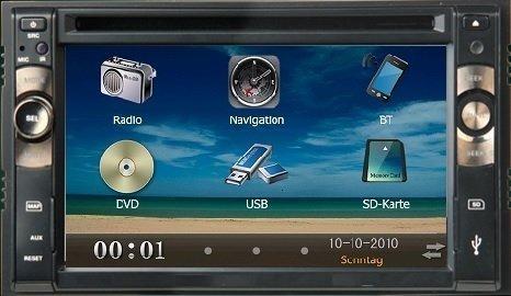 Central Multimídia Universal 6.1 Tv Digital, Gps E Câmera Ré