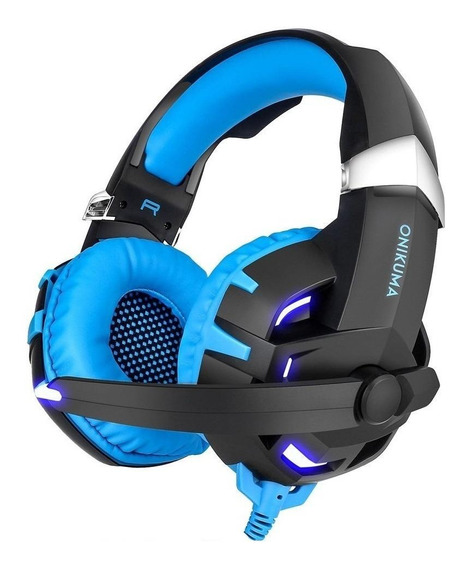 Fone de ouvido gamer Onikuma K2 black y blue