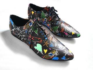 Zapatos Stlletos De Mujer Con Diseño Grafitti