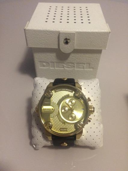Relógio Diesel Dz 7363 Banhado A Ouro 18k Original