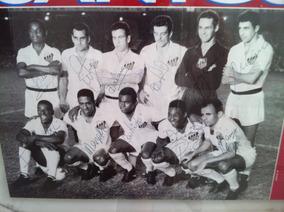 Poster Futebol - Santos Campeão Mundial - Autografado