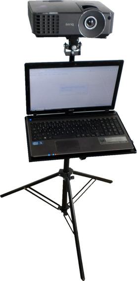 Suporte Projetor Tripé Pedestal Com Acessório Notebook Dvd