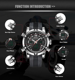 Reloj Weide® Super Sport Multi Zona Horaria