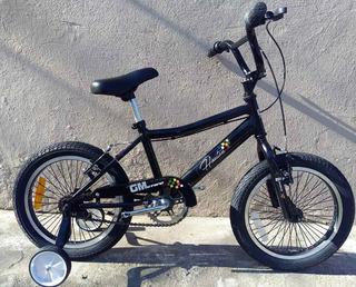 Bicicleta Rodado 16 Cross Varon Niño Infantil Gm Store Bmx
