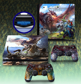 Adesivo Ps4 Playstation 4 Slim Monster Hunter World Skin