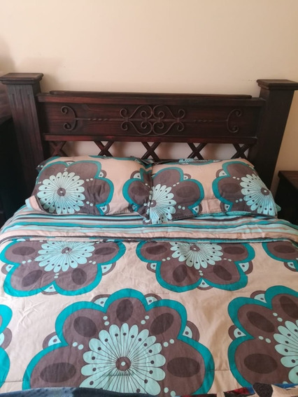 Juego De Muebles Estilo Colonial (cama, Mesa, Espejo, Otros)