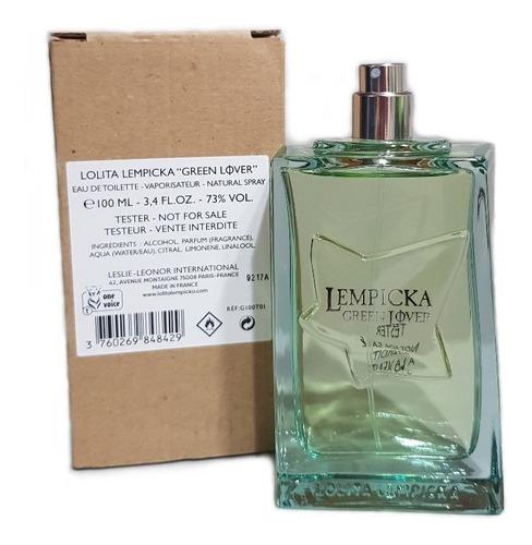 Tester Perfume Green Lover 100ml Edt De Lolita Lempicka Men