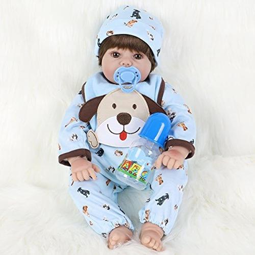 Ena Reborn Baby Doll Realista De Silicona Vinilo Bebé 51cm