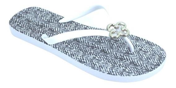 Chinelo Feminino Capodarte Com Logo Branco 4010746