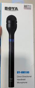 Microfone De Mão Boya By-hm100 Pro Portátil Sem Fio