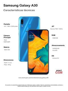 Smartphone Samsung Galaxy A30 A305g Ds 6.4 3gb/32gb Blanco