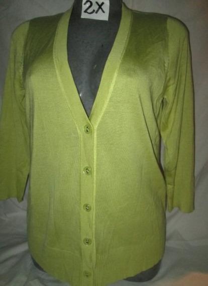 Sweater Verde De Vestir Talla 2x Extragrande Americano