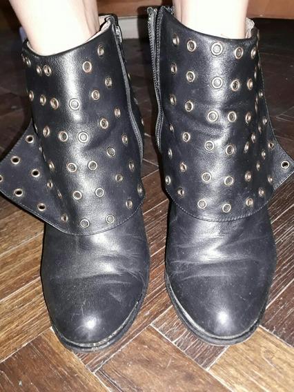 Botas Cortas Negras C/ Tachas Nro. 38