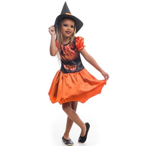 Roupa De Bruxa Matilda De Halloween Original 2 A 12 Anos