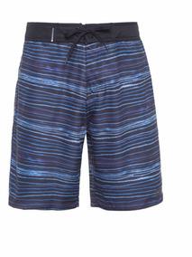 Bermuda Osklen Surf Blur Stripe Azul Original