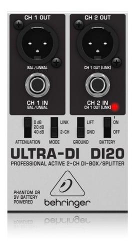 Behringer Ultra-di Di20 Splitter Caja Directa Activa