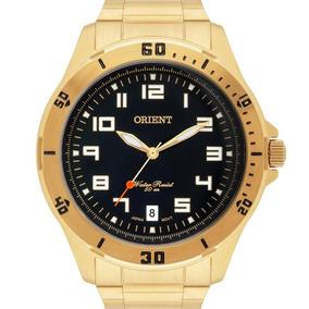 Relógio Orient Masculino Analógico Dourado Mgss1105a P2kx