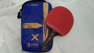 Kit 1 Raquete Profissional 5 Estrelas Huieson Com Fibra De Carbono + Raqueteira