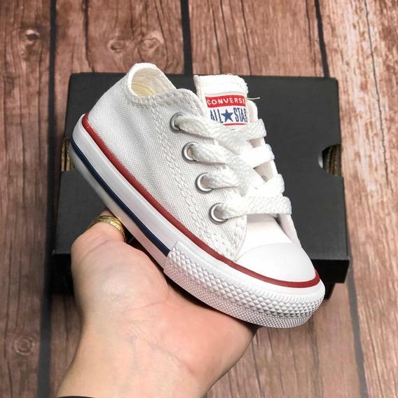 All Star Converse Infantil Branco Original