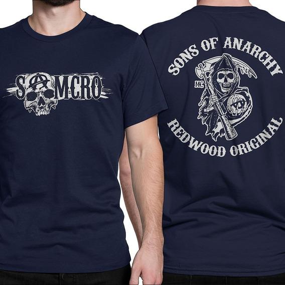 Camiseta Sons Of Anarchy, Camisa Samcro Séries Seriados