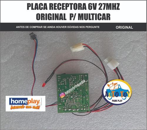 Imagem 1 de 6 de Multicar 640 Homeplay - Só A  Placa Receptora 27mhz Original