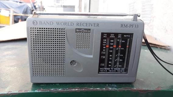 Rádio Portátil Usado Motobras 3 Faixas Funcionando Perfeitam