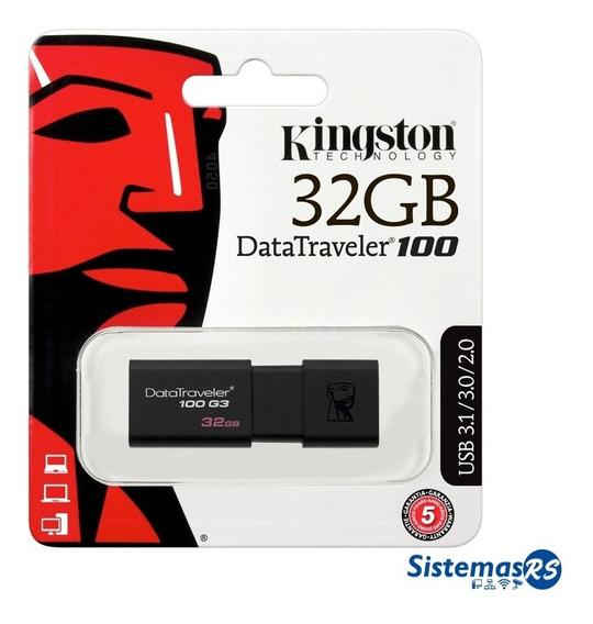 Pendrive Kingston 32gb Datatraveler 100 G3 Usb 3.0