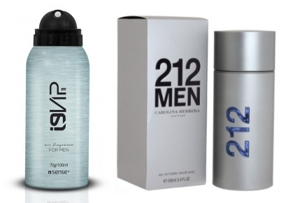 Perfume 212 Men Aerosol Masculino Da I9 Life 100ml