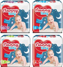 Kit Com 6 Fraldas Nanny Revenda Barato G Com 480 Unidades