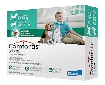 Antipulgas Comfortis Cães - 9 A 18kg Gatos - 5,4 A 11kg