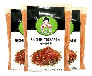 Pack X5 Togarashi Especias Y Condimentos Hierbas X 300 Gr