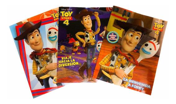 Libro De Colorear Toy Story 4 Con 16 Páginas Tamaño Carta