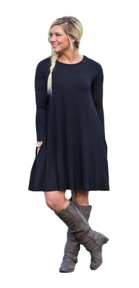 Vestido Básico Con Bolsillos - Juana* Chuva Ropa