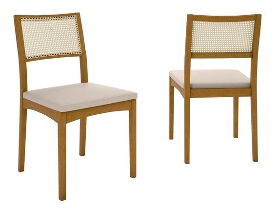 Conjunto 2 Cadeiras Noah Atlanta Móveis Clement Fe