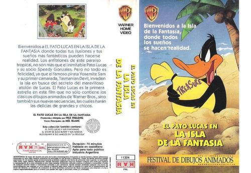 El Pato Lucas En La Isla De La Fantasia Vhs Opc Digitalizada
