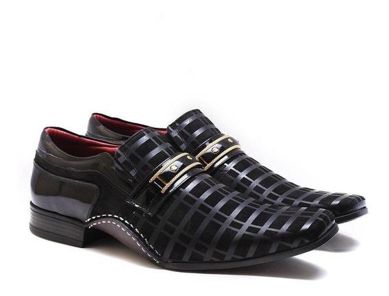 Sapato Social Versales Masculino Couro Bico Fino Dia A Dia