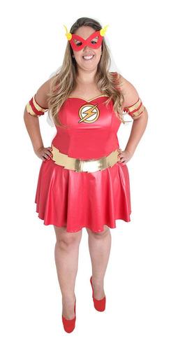 Fantasia The Flash Plus Size Feminina Adulto