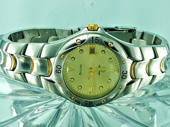 Relógio Bulova 98g78 Marine Star Prata E Dourado Banho Ouro