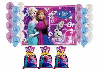 Festa Frozen Bexiga + Painel + Sacola Surpresa