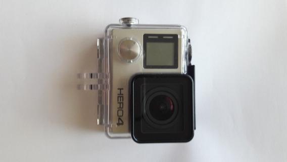 Camera Gopro Hero 4 Silver + Acessórios Com Pouco Uso