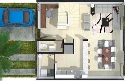 Casa En Venta De 3 Niveles En Condominio Nuevo En Cancun