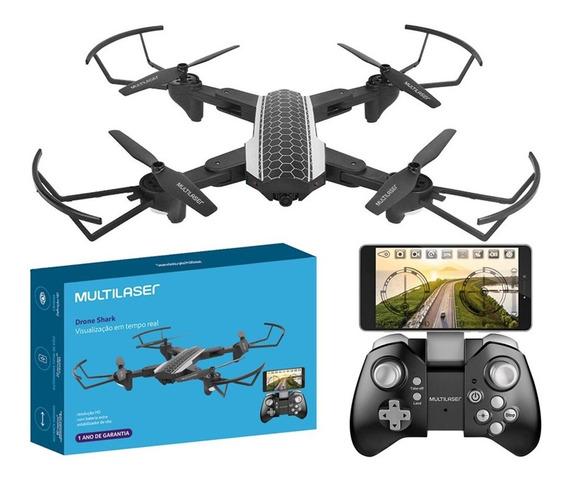Drone Camera Hd Shark Multilaser Alcance 80m Bivolt Es177