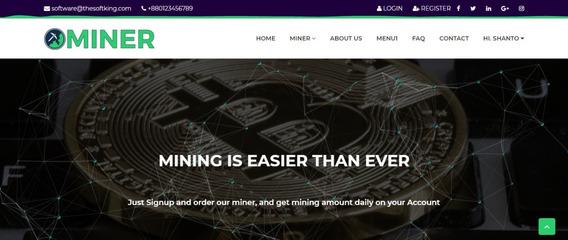 Script Mineração Cloud Miner Profissional + Ssl + Payeer