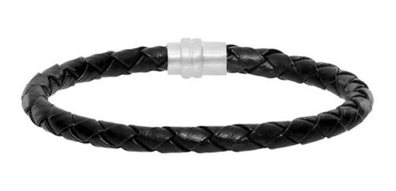 Pulseira Masculina Bracelete Couro Reforçado - Casual Basica