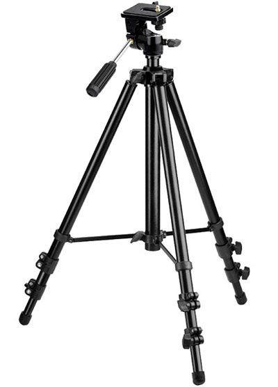 Tripé Universal Cameras Até 3kg Altura 153 Cm 3 Estagios