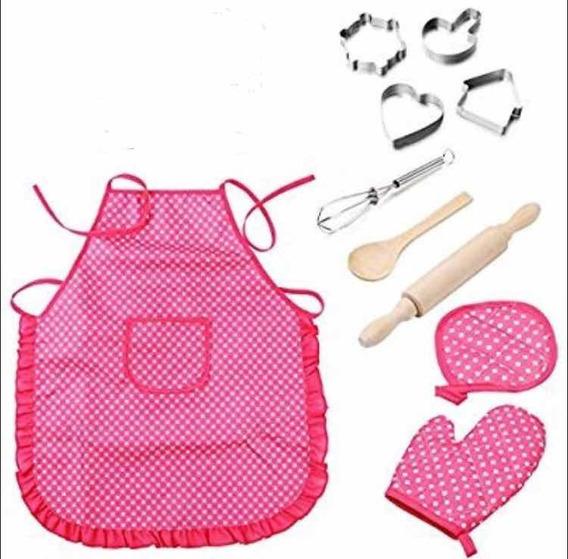Set De Chef Infantil 11 Piezas/delantal De Cocina Infantil