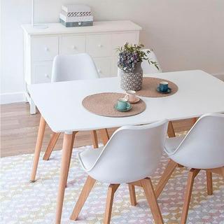 Mesa De Cocina Diseño Eames 120x80 Cm