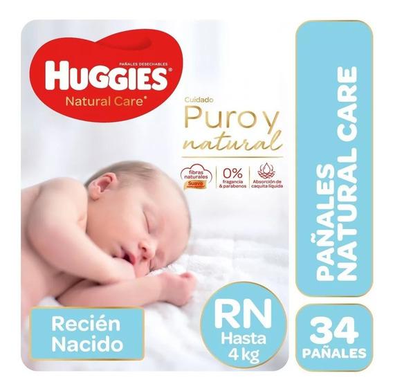 Huggies Pañales Natural Care Recién Nacido X 34un Unisex